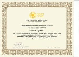 Certifikát Naam